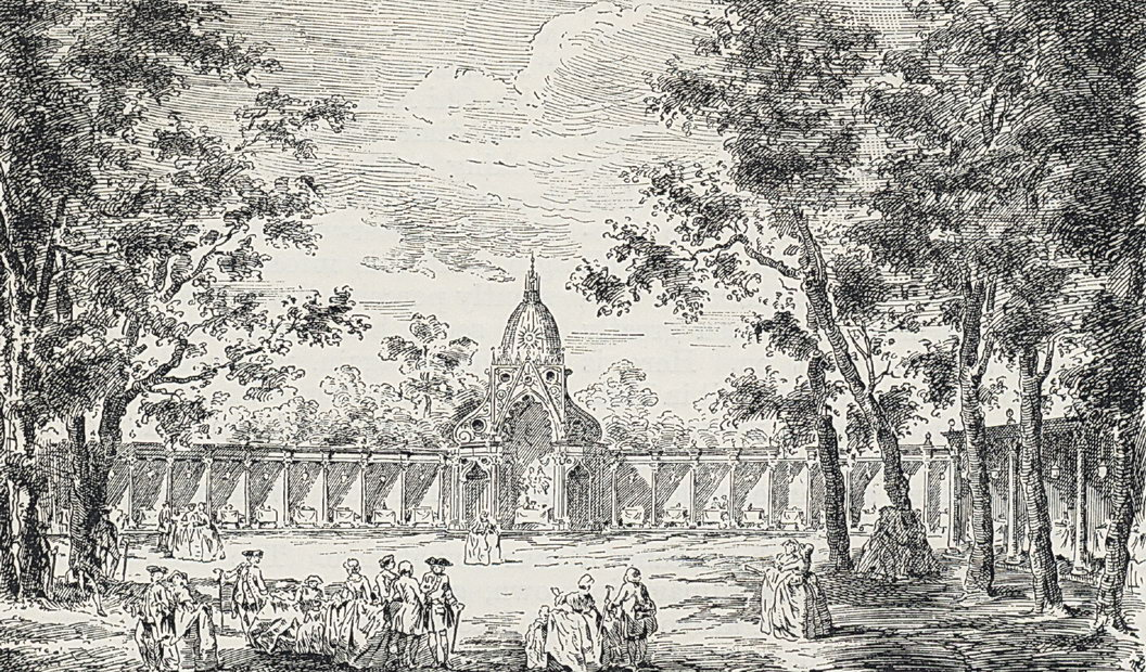Vauxhall gardens fig11 the temple of comus piazza of 1751 from a 19th century periodical publicscrutiny Image collections